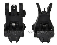 Airsoft Tactical Flip-Up BackUp Front and Rear Sight Set for 20mm Rail Hunting