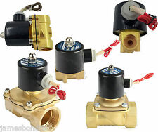 """Water Air Gas Fuel NC Solenoid Valve 3/8"""" BSPP 12V DC 2W-10"""