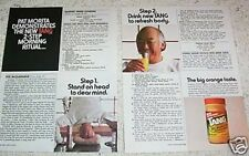 1987 vintage ad - Tang orange breakfast drink - PAT MORITA - print ad