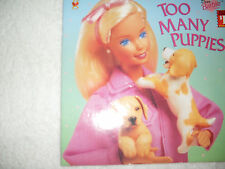 Kids cool paperback:Dear Barbie Too Many Puppies,A Golden Book-Barbie to rescue!