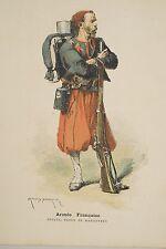 Militaria Armée Française Uniforme ZOUAVE Tenue de manoeuvres Armand-Dumaresq