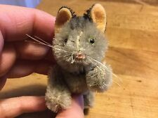 "RARE ANTIQUE MINIATURE 3"" MOHAIR SCHUCO DOLL COMPANION CAT DARLING!"