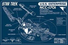 Star Trek Enterprise Blueprint Collections Poster Print, 36x24