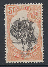 Somali Coast Sc 63 MLH. 1903 5f Somali Warriors with  INVERTED CENTER