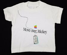 """Vtg 1980s Baby/Toddler Apple """"Move over, Mickey"""" T-Shirt 12 mos deadstock nos"""