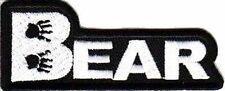 BEAR Paw Print Fun Embroidered Motorcycle MC Quality Biker Vest Patch PAT-0211