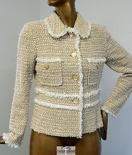 St John Collection Fringe Knit Jacket sz 10 USA 2011