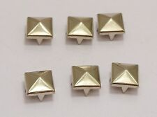 100 Silver Tone Metal Square Pyramid Claw Punk Stud Rivets 9mm Belt LeatherCraft
