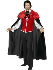 Gothic Manor Vampire Costume Large Deluxe Halloween Mens Fancy Dress