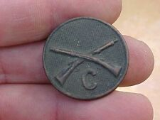 ORIGINAL WWI US INFANTRY CO.C COLLAR DISK