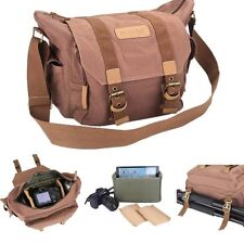 AGM Canvas Deluxe Camera Shoulder Bag Rucksack for Nikon Canon Sony DSLR SLR