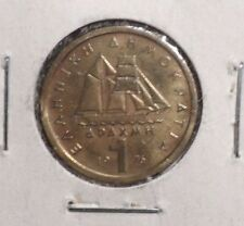CIRCULATED 1976 1 APAXMAI GREEK COIN (61016)