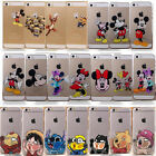 Lovely Transparent Cartoon Back Case Cover Skin For iPhone 4 4S 5 5S 5C 6 6 Plus