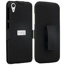 Black Shell Hard Case Cover + Clip for HTC Desire 530 / 625 / 626 / 626s / 630