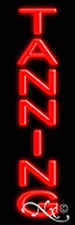 "BRAND NEW ""TANNING"" 24x8x3 VERTICAL REAL NEON SIGN W/CUSTOM OPTIONS 12305"