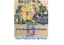 JUST PACK PULLED 1st EDITION TEAM ROCKET FREE HOLO Uncommon/Common Set Pokemon