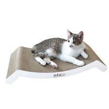 Evelots Reversible Cat Scratching Kitty Lounge Bed, Corrugated Cardboard Pad