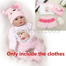 Set of Reborn Doll Baby 's Girl Clothes for 22'' Newborn Baby, NOT Included Doll