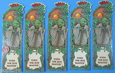 BOOKMARK lot of 5 YODA the JEDI MASTER '83 vintage Star Wars