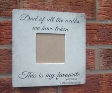 shabby and chic wedding father of bride gift personalised frame walks aisle dad