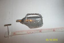 Sterling Silver 925 wine bottle Basket Brooch Pin