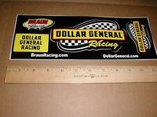 "Dollar General NASCAR auto Racing tool box decal Sticker sheet 2.5""-6"" inch"