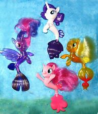 My Little Pony SEA PONIES MOVIE brushable PINKIE PIE Rarity APPLEJACK Mer ponies