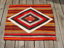 Native American Single Saddle Blanket ~ circa 1890 - 1910 Navajo Woven Textile