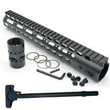 Ultra Light 13.5'' KeyMod Free Float Quad Rail Handguard For AR W CHDL  223/5.56