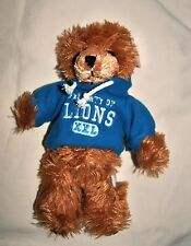 "DETROIT LIONS football TEDDY BEAR stuffed animal plush 8"" NFL licensed hoodie"