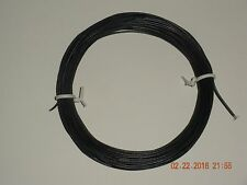 28 AWG STRANDED BLACK HOOK-UP WIRE, CABLE 10m (32.8ft), Flexible, US seller.
