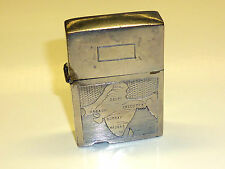 "VINTAGE ANTIQUE LIGHTER ""D.&CO. 1289"" WITH MOTIF/ENGRAVING - INDIEN MAP - RARE"