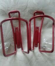 PAIR OF SPECIALIZED ALLOY WATER BOTTLE CAGES. CHERRY RED/PINK. NEW.