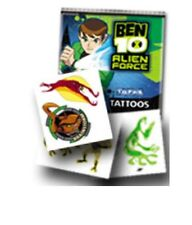 BEN 10 ALIEN FORCE TATTOO PACK PLUS BEN 10 OMNIVERSE STICKER PACK TOPPS