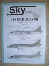 Sky Models Decal Harrier/AV8B 48-028