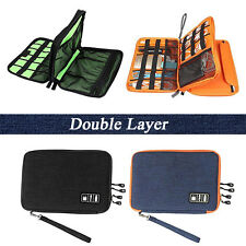 2 Pcs Universal Cable Organizer Electronics Accessory USB Drive Travel Bag Case