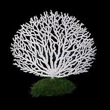 Plastic WHT Anemone Coral Artificial Aquatic Fish Tank Aquarium Decoration