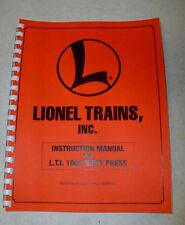 LIONEL FACTORY INSTRUCTION MANUAL FOR RIVET PRESS, E-UNIT REPAIR