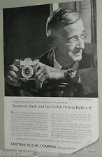1959 KODAK RETINA REFLEX S advertisement, with Karsh photo of Vannevar Bush