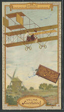 Switzerland Victorian Trade Card: Chocolat Velma Suchard Chocolate AVIATION