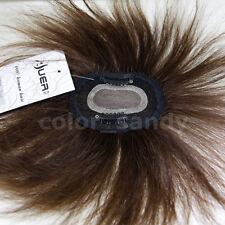 Toupee Human Hair 100% Echthaar Toupet Haarteil Clip in Extensions Perücke Braun