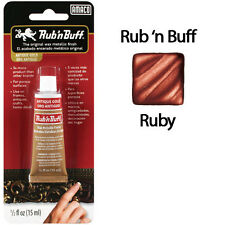 Rub N Buff Wax Metallic Finish Ruby 76334W by AMACO