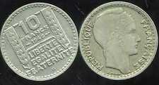 10 francs TURIN  1946B   grosse tete  rameaux courts   ( bis )