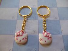 """Hello Kitty """""""" Pink / Gold """""""" Key Chain Ring** Lot-of-2** Free Shipping"""