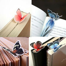 Random 3D Butterfly Bookmark Marker Paper Card Clip Book Animal Marks