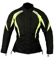 Womens Motorbike Motorcycle Jacket Waterproof Ladies Hi Vis Hi Viz Coat