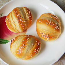 Artificial Simulation Fake Food Plastic Kitchen PU Hanamaki Sesame Bread