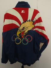 OLYMPIC USA STARTER VINTAGE JACKET RETRO VTG STITCH UNITED STATES OLYMPIC TEAM