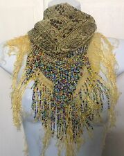 Alexia Luxury Scarf Tutti Fruitti- Beads & Tassels Designer Scarf, London Look