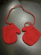 American Girl Doll Nellie Retired Holiday Coat Red Mittens ONLY